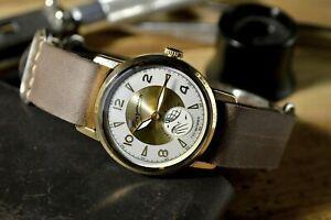 Vostok-Sputnik-Herren-Armbanduhr-UdSSR-Uhr-1960s-Chistopol-UdSSR-selten-Vintage