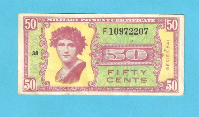 Series 541 Military Payment Certificate MPC 50 Cent Replacement Note  KSLC