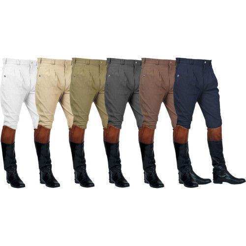 Mark Todd Auckland para hombre Pantalones Frente Plisado Pantalones De Montar Equitación-café todos los tamaños
