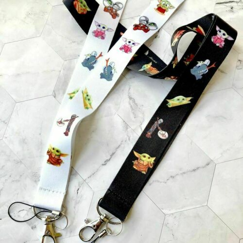 Cute Baby Yoda  Neck Strap Lanyards for keys ID Card Gym Mobile Phone Straps