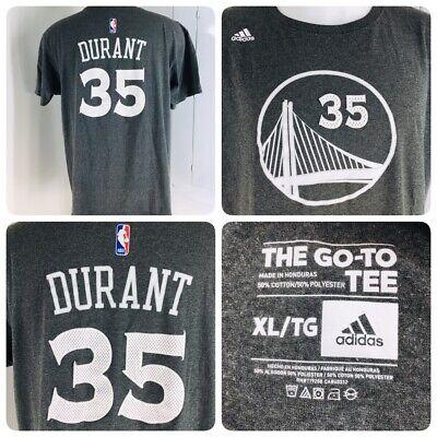 sale retailer e1555 adfe6 Adidas Kevin Durant Men's Size XL Golden State Warriors Jersey T-Shirt Gray  SS | eBay