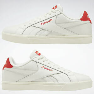 Nouveau-Chaussures-Reebok-Royal-Complete-Low-3-0-Blanc-Rouge-Taille-7-5-eu-41-Cuir-Unisexe