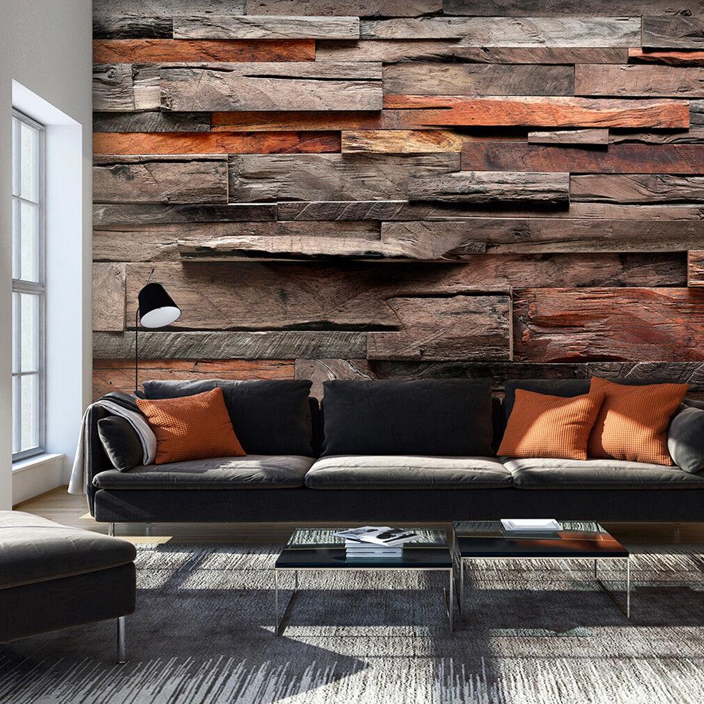 FOTOTAPETE selbstklebend Tapete Holz Optik Muster Wandtapete Wohnzimmer 034