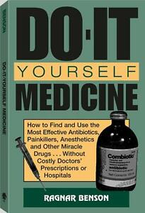Do-It-Yourself Medicine - Emergency Survival First Aid Prepper Book Camping Kit