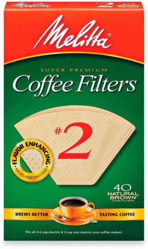 Melitta 40-Count Number 2 Natural Brown Super Premium Coffee Filters