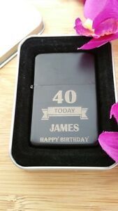 18th /& 21st GIFT ANY PHOTO//TEXT ENGRAVED LIGHTER GIFT COMES IN A TIN BOX UK