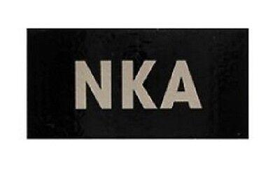 NKA Blutgruppe Infrarot Klett Uniform Patch Abzeichen mit Hakenklett