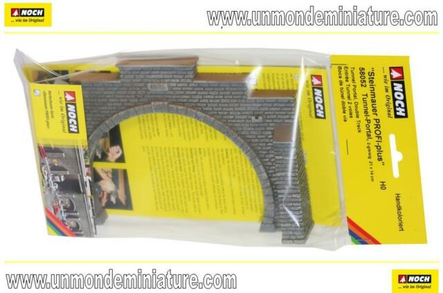 Entrée de tunnel 2 voies 21 x 14 cm  NOCH - NO 58052 - Echelle 1/87