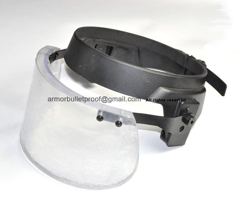 Bullet Proof Ballistic Face Shield Mask Glass 3A Bulletproof Helmet Body Armor
