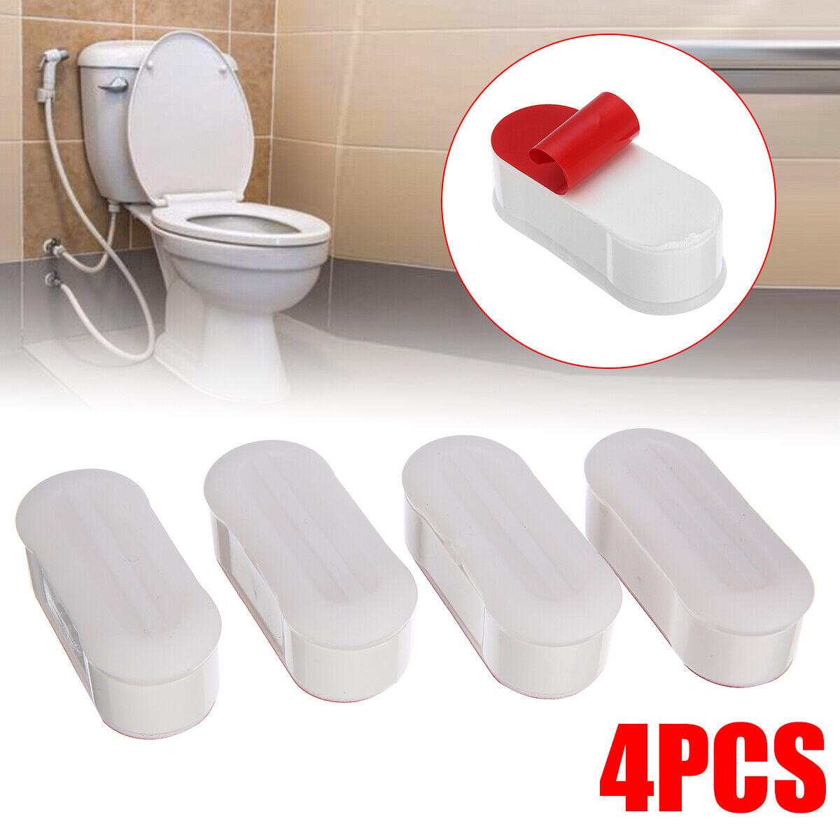 4pcs Toilet Seat Buffers Bumper Adhesive Strip Pad Universal For Bathroom /AU