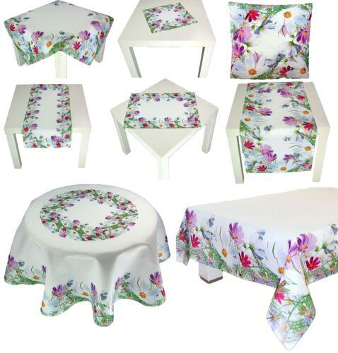 Cosmea Tischdecke Tischläufer Deckchen Kissenhülle Tischtuch Gartendecke Kissen