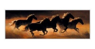/'Wild Horses/' Horse running blank greetings birthday card Pollyanna Pickering