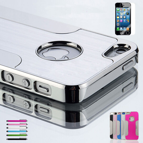 Luxury Aluminum Chrome Hard Protective Cover Case For iPhone 5 5S 5C 6 & 6 Plus