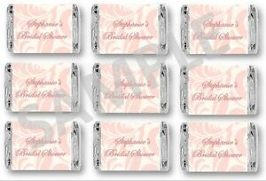 image is loading bridal shower mini candy bar wrappers blush pink