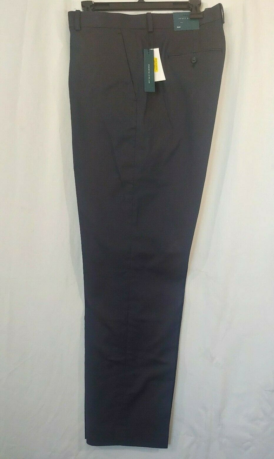 NWT Perry Ellis Dressy Essentials Navy Dress Pants - Men's 38 x 32