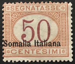Italy-Somalia-Tax-Sassone-n-28-cv-1050-MH-Variety-overprint-moved-to-left