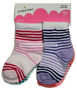 6bad9aaf6 Baby & Toddler Clothing Socks & Tights JUMPING BEANS 4 Pairs FOR GIRLS  Infant/Toddler ASSTD ...