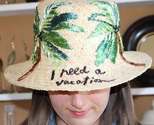 item 4 Kate Spade I Need A Vacation Straw Raffia Hat NWT Beautiful Palm  Trees!! -Kate Spade I Need A Vacation Straw Raffia Hat NWT Beautiful Palm  Trees!! d4e65e77060