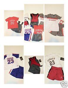 cfc507198704c8 NWT Boys Nike Air Jordan Jersey Shirt Short LOT 18M Outfit Set ...