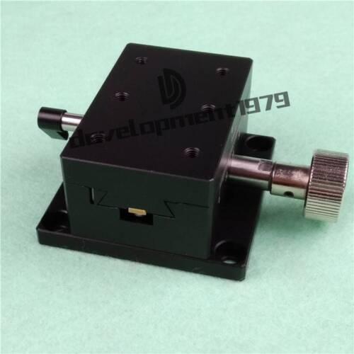 1PCS NEW X-Axis 15*15mm Dovetail Manual Trimming Platform Gear Sliding Table