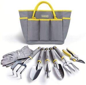 Jardineer Garden Tool Set - 8Pcs Gardening Tool Set for Women Men, Durable Garde