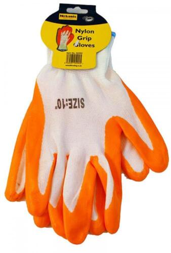 Mekanix 45//292 Arancione Cotone Non Slip Grip Nylon Guanti Da Lavoro Fai Da Te Essentials NUOVO