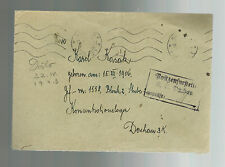 Lot 7 Covers to Germany Dachau Concentration Camp Political prisoner Karl Kasak