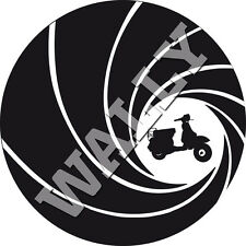 Vespa Lambretta Roller Scooter Sticker Aufkleber James Bond 007 Linse