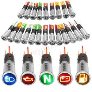 12V-24V-8mm-LED-Metal-Indicator-Warning-Dash-Light-Lamp-Car-Truck-Symbol-Metal