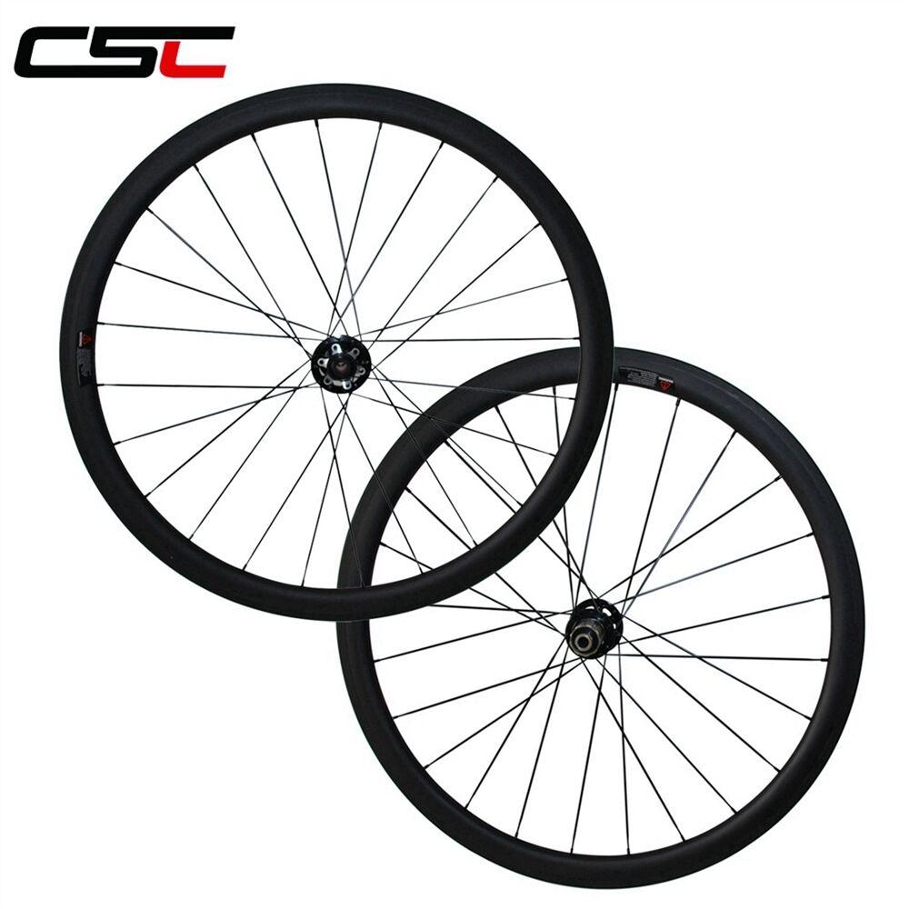 CSC 23wide Disc Brake hub 38mm Tubular carbon Cyclocross wheels 12100 thru axle