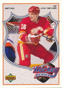Brett Hull 1991-92 Upper Deck Hockey Heroes #5 St. Louis Blues Hockey