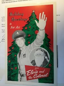 Vintage-Elvis-1958-Army-Christmas-Card-COA-Colonel-Parker-Office