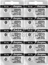 Energizer 377 / 376 Watch Batteries SR626SW 626 0%HG ( 10 PC )