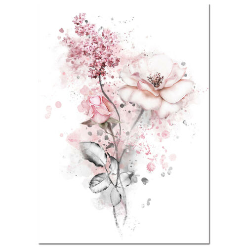 Flower Girl Nordic Canvas Posters Art Prints Wall Picture Bedroom Decoration