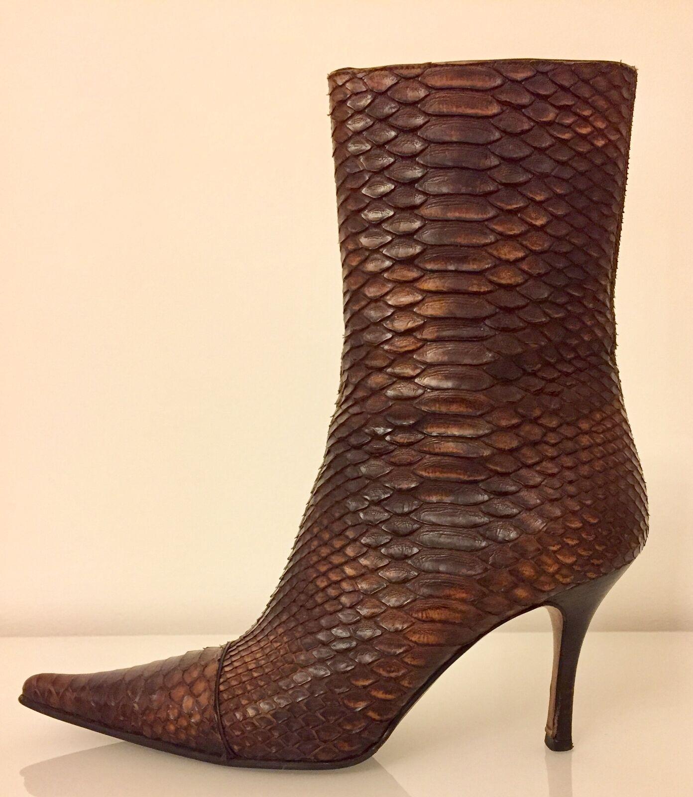 Luciano Padovan Python Braun Stiefel Heels Schuhe Wirklich Größe EU 39 39 EU / US... bcb567