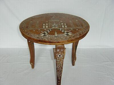 Modestil Beistelltisch Tisch Aus Holz, Orientalisch, Intarsien, Eventuell Elfenbein