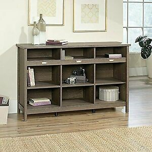 Sauder Furniture Adept Storage Fossil Oak Credenza Cabinet 418565