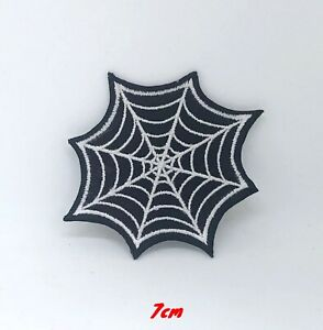 Spider-Web-Outlaw-Biker-Punk-Rocker-Iron-on-Sew-on-Embroidered-Patch-applique