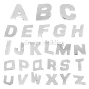 Details Zu 3d Diy Metall Buchstaben Alphabet Letter Zahlen Wand Aufkleber Sticker