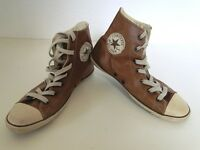 Converse All Star Chucks Sneaker Turnschuhe High Taylor Leder Braun Gr. 4 / 37