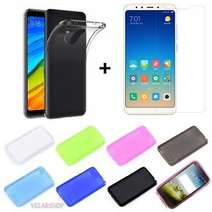 CUSTODIA-COVER-CASE-TPU-GEL-per-XIAOMI-REDMI-5-PLUS-PELLICOLA-VETRO-TEMPERATO