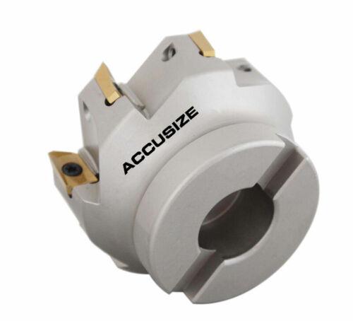 "Square Shoulder Indexable Face Mill APKT1604 Insert #4508-0018 3/""x1/"" 90 Deg"