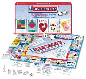 Image Is Loading Post Office Opoly Love Stamps Edition Monopoly Board