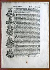 Inkunabel, Schedel Weltchronik, Pag. LXXXV - Holzschnitt 1493, Graphik Grafik