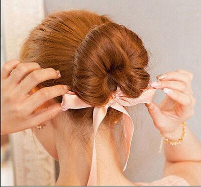 New Doughnut Silky Hair Accessries Bun Ring Donut Updo Girl Woman Elastic