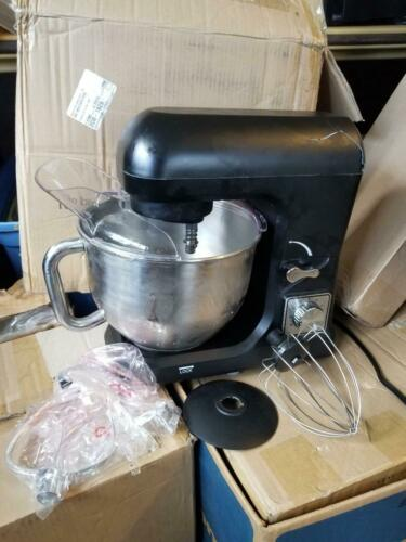 Stand Mixer MK-36 Black-   3 Attachments- New w/ damage