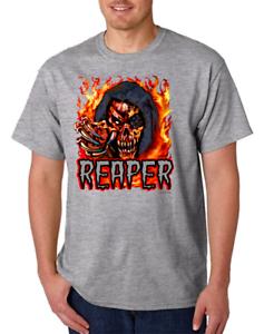 Gildan Short Sleeve T-shirt Attitude Grim Reaper Death Angel Skull