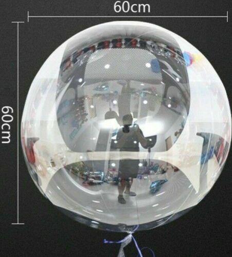 60cm XXL Helium Bubble Ballon Transparent Luftballon Rund Hochzeit Jubiläum Deko