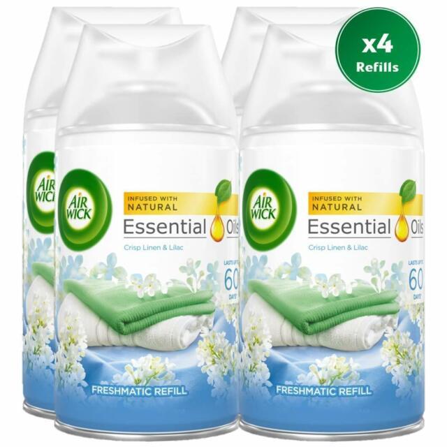 Airwick Freshmatic Autospray Refill, Crisp Linen & Lilac Scent - 4 Refills x