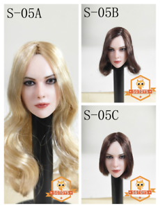 SGTOYS S-05 1 6 Beauty European Girl Head Carving 3 styles Hair Head Model Toy